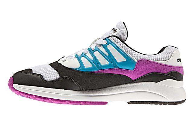 Adidas Torsion Allegra Grey Pink Blue Profile 1