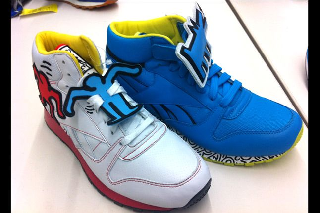 Keith Haring Reebok Cl Leather Mid Lux 12 Quater Front Pack 1