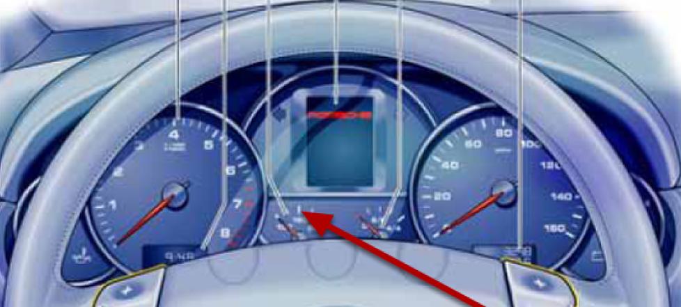 Marcador de temperatura Porsche Cayenne
