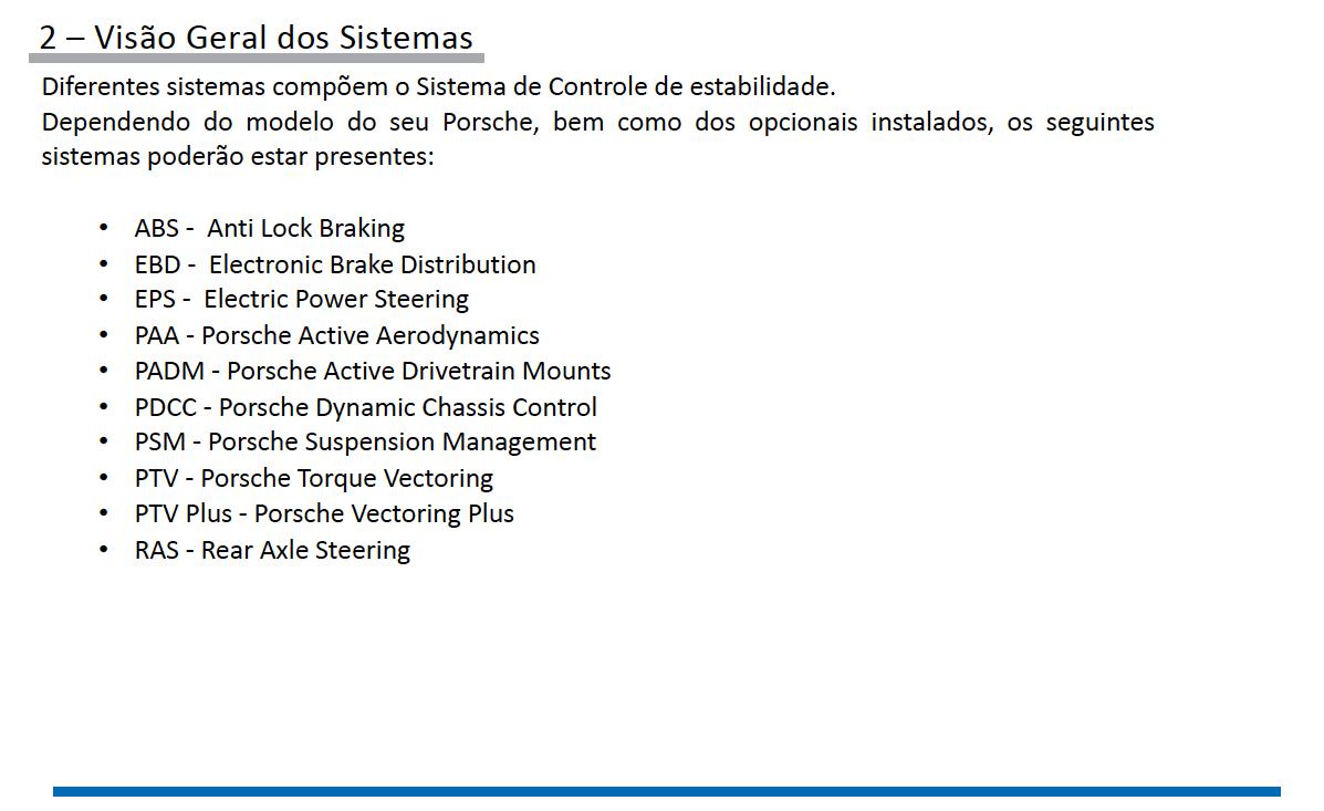 Sistemas de Controle de estabilidade Porsche pg2