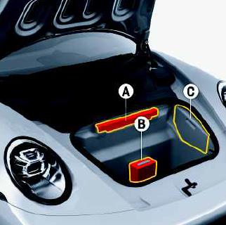 triangulo e kit de primeiros socorros Porsche Carrera 911 992
