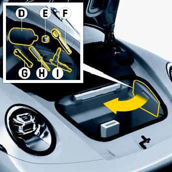 Compartimento no interior do porta-mala