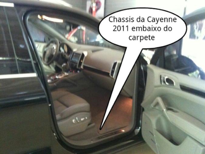 Gravação do chassis Cayenne 2011 a 2018