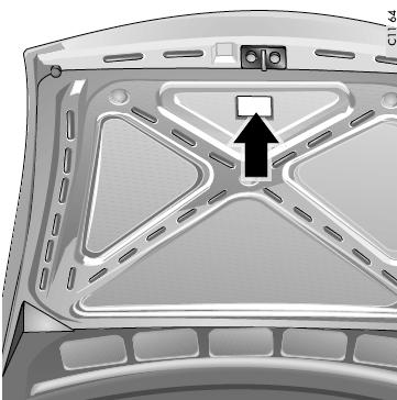 Etiqueta com o número do chassis