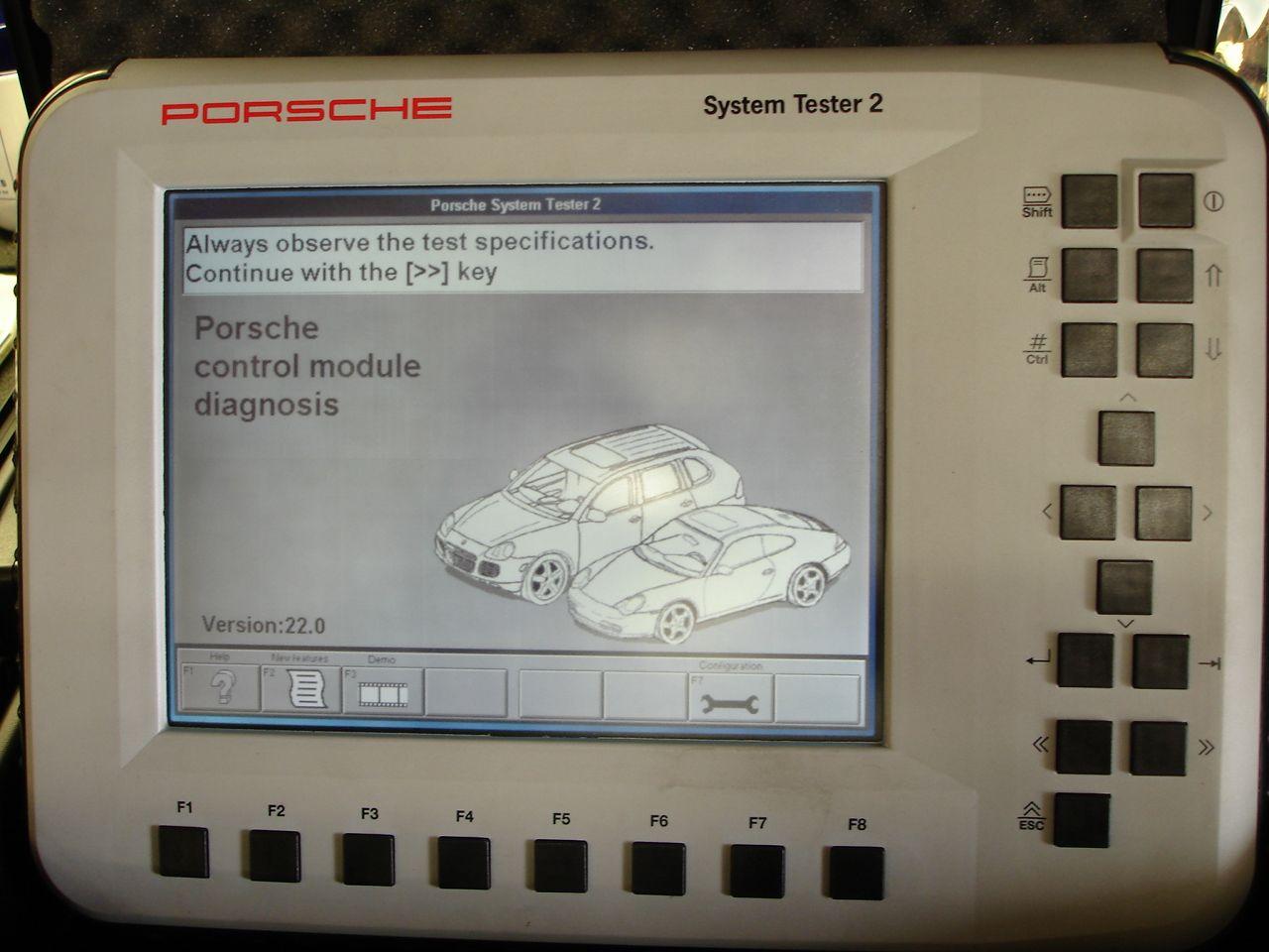 Porsche System tester diagnostic geração 2
