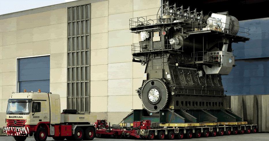 motor diesel maritimo Sulzer RLA 56 de longo curso