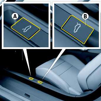 Abrir o porta-malas dianteiro