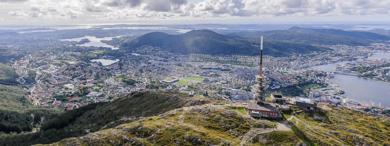 Utsiktsbilde fra Ulriken mot Bergen
