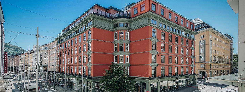 Bilde av Strandgaten 18 i Bergen sentrum, solgt av WPS Næringsmegling