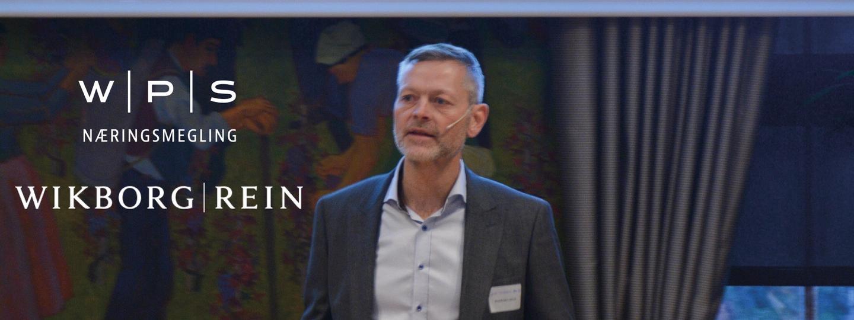 Partner i WPS Næringsmegling, John Kenneth Porten, holder foredrag om verdsettelse av utviklingsprosjekter
