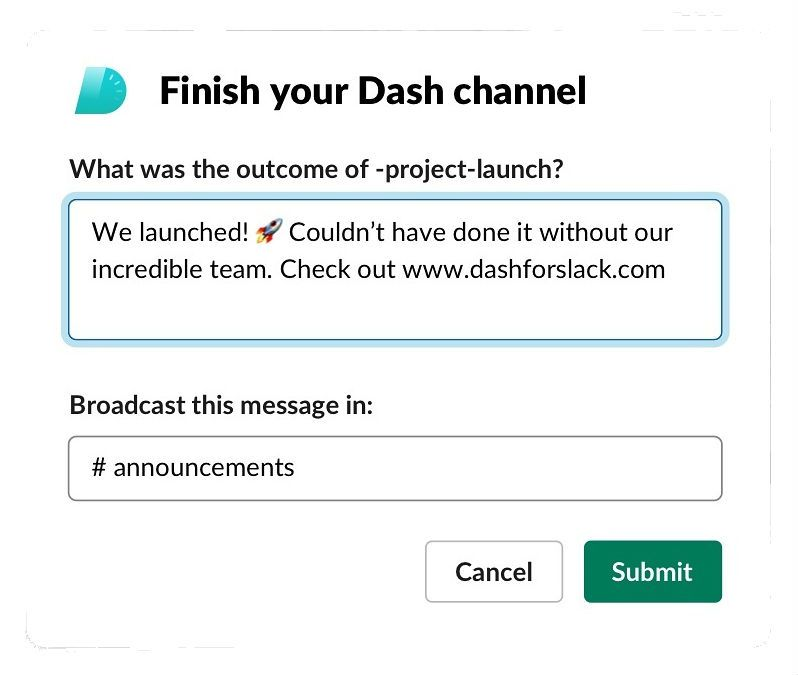 Dash for Slack (remote teams)