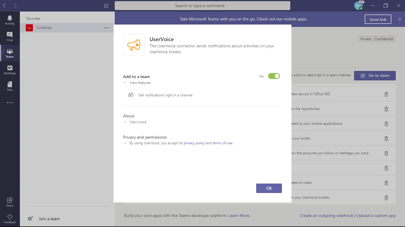 UserVoice for Microsoft Teams