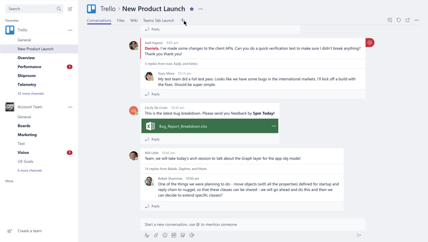 The Trello Connector for Microsoft Teams