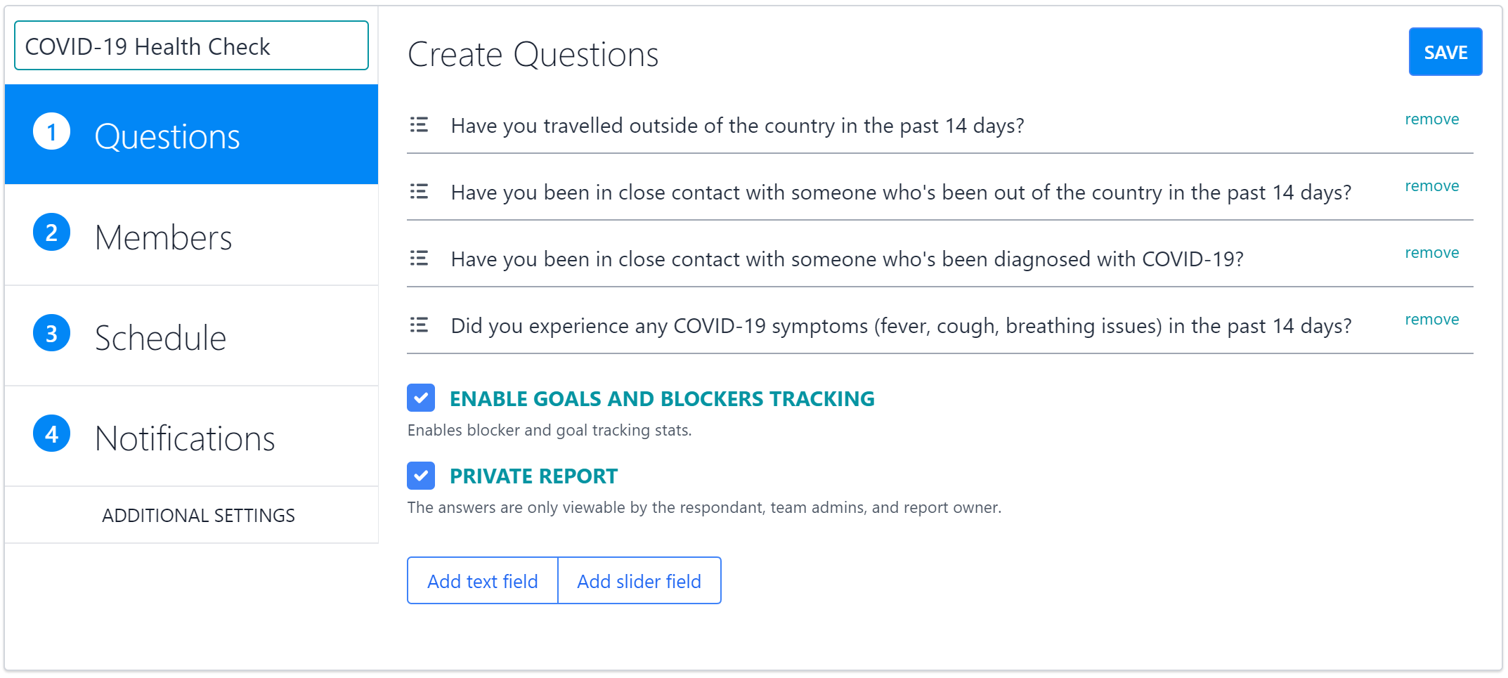 How to Use Private Questions for COVID-19 Health Checks - Mental & Physical Health