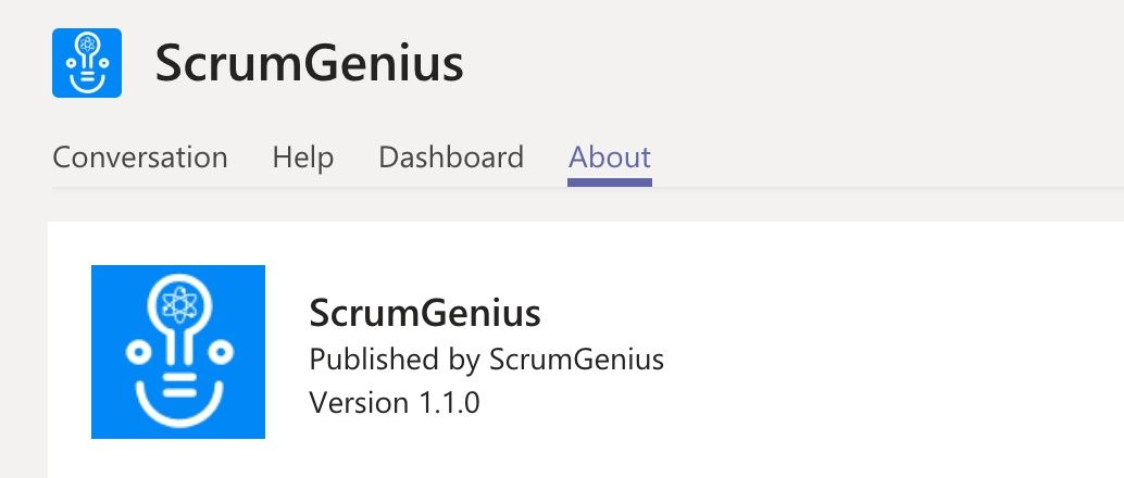 Microsoft Teams ScrumGenius update