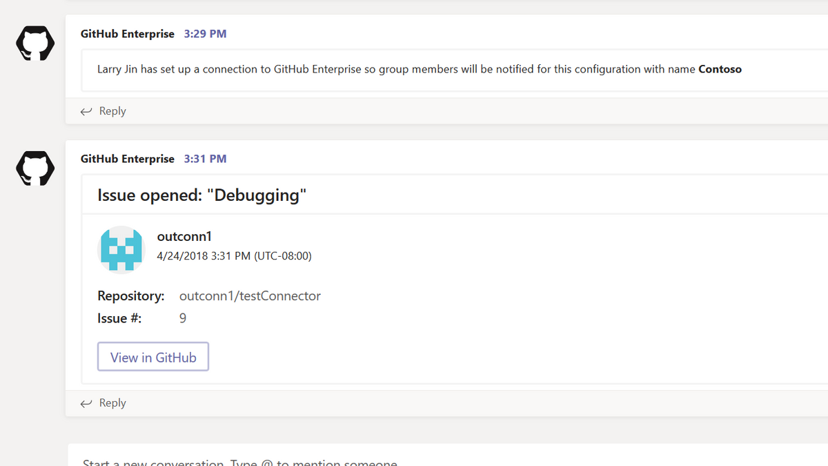 GitHub Enterprise for Microsoft Teams