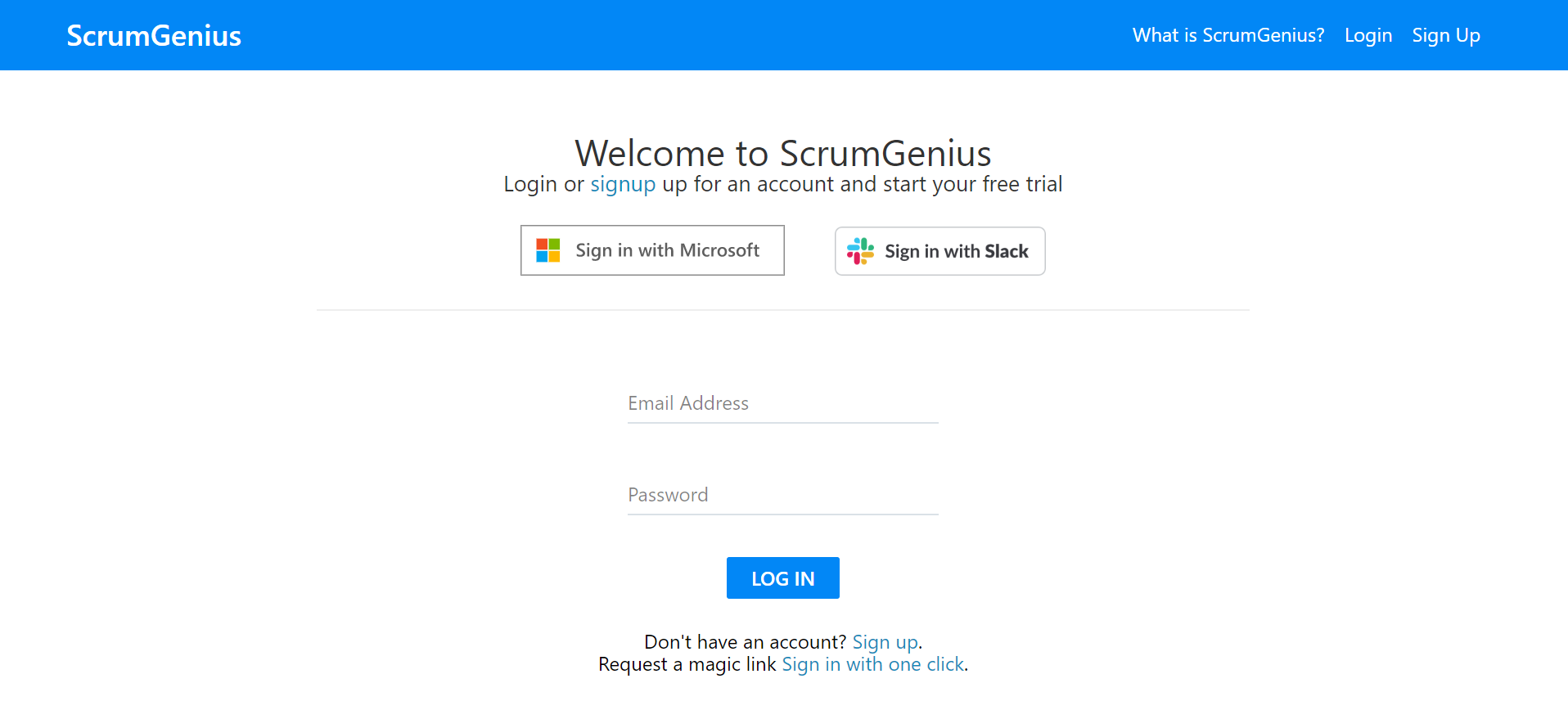 ScrumGenius November Product Updates - slack sso