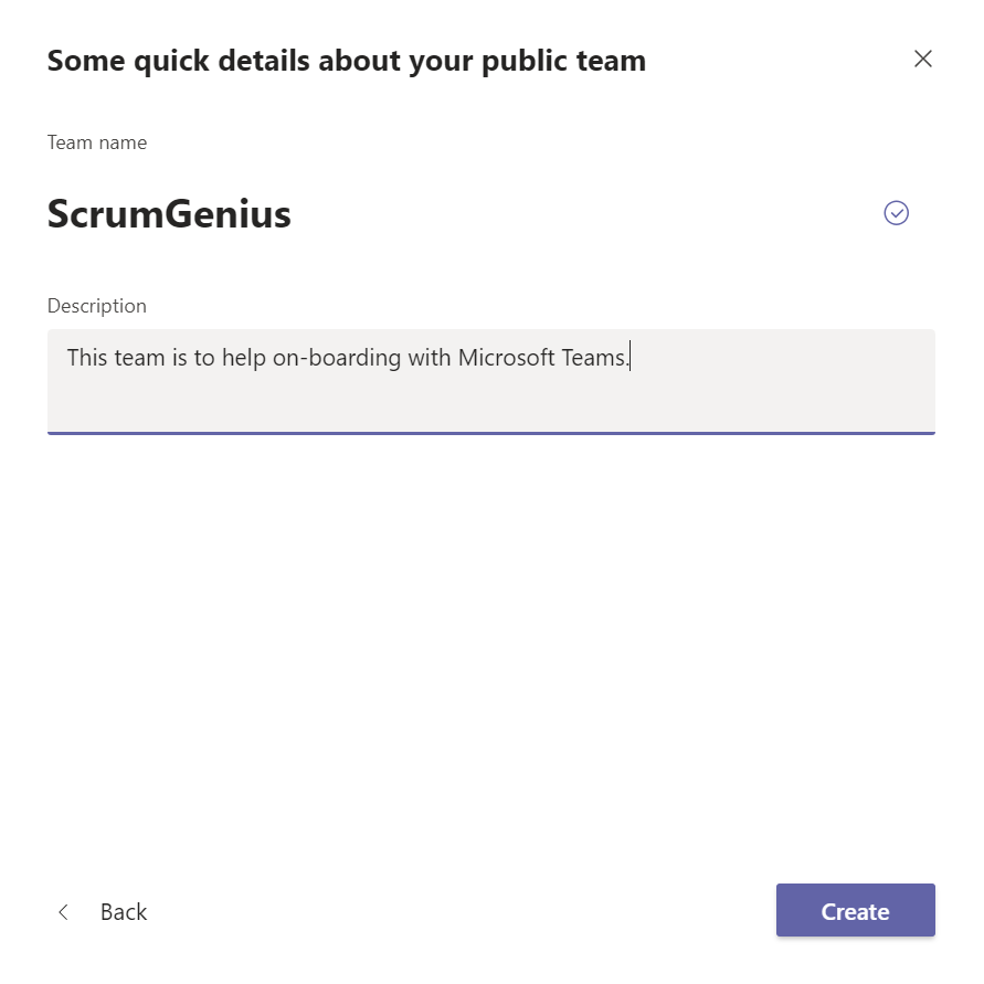 How to Use Microsoft Teams Effectively 2: Setting Up Your Account - Create Team 3
