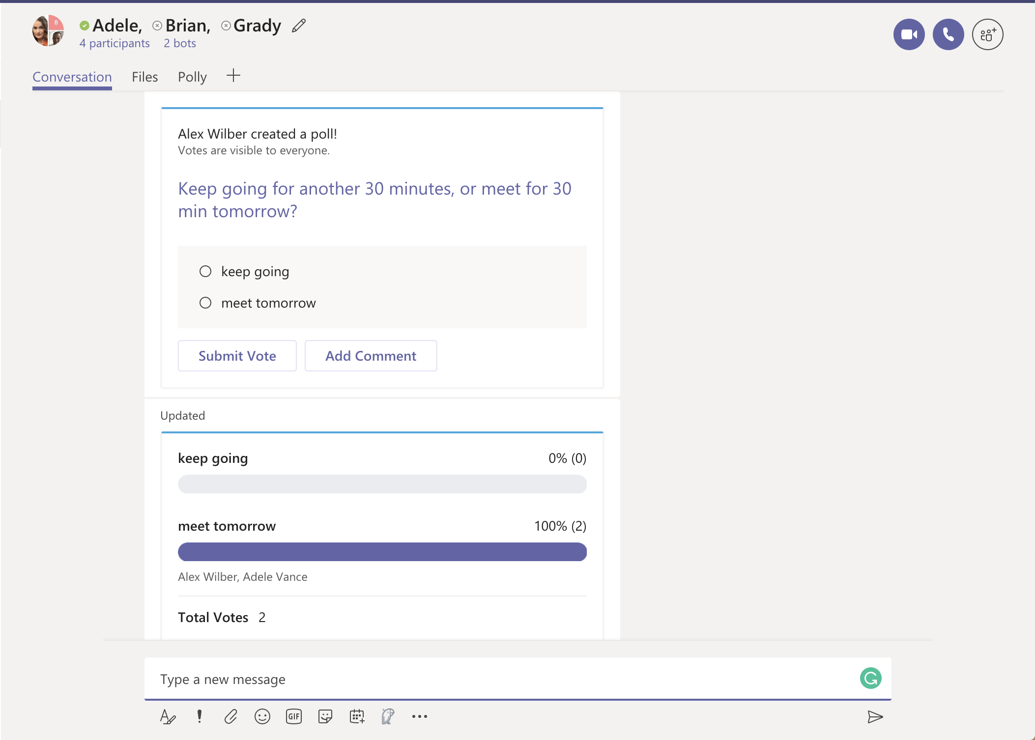 Polly for Microsoft Teams