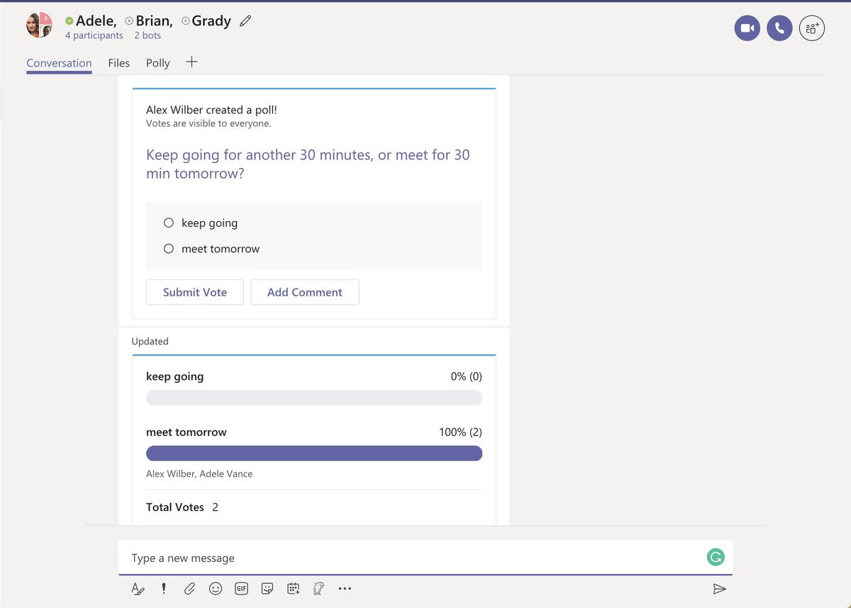 Polly for Microsoft Teams