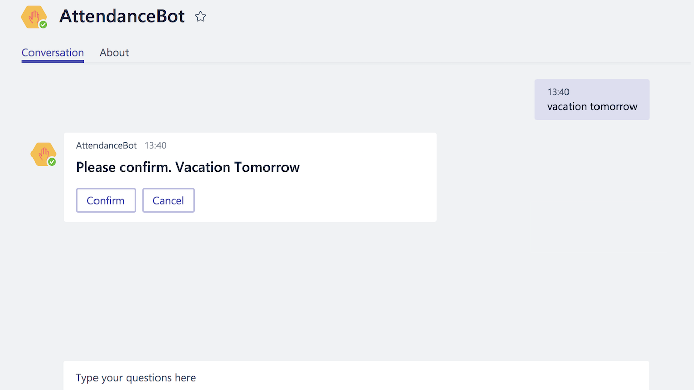 AttendanceBot for Microsoft Teams