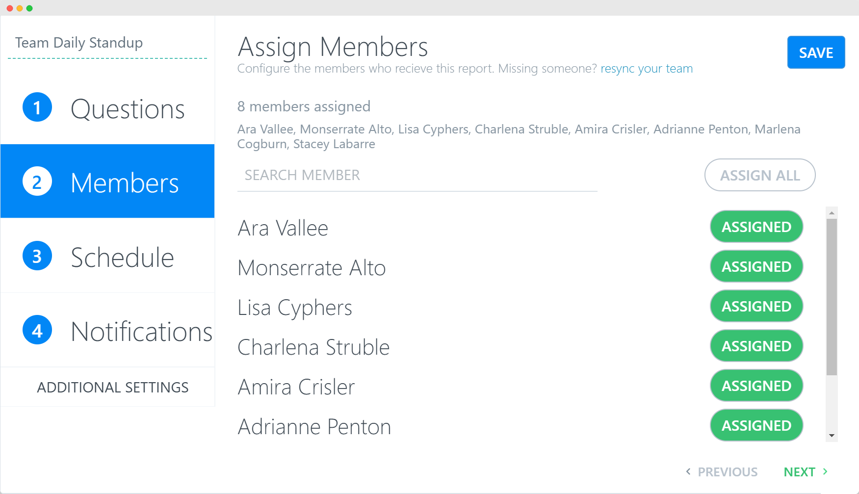 Assign team members to ScrumGenius