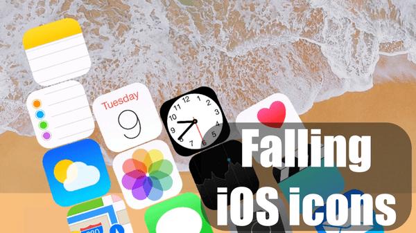 Falling icons