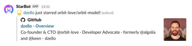 dzello just starred orbit-love/orbit-model