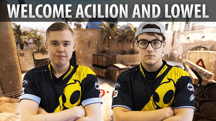Team Dignitas CSGO welcomes AcilioN and loWel