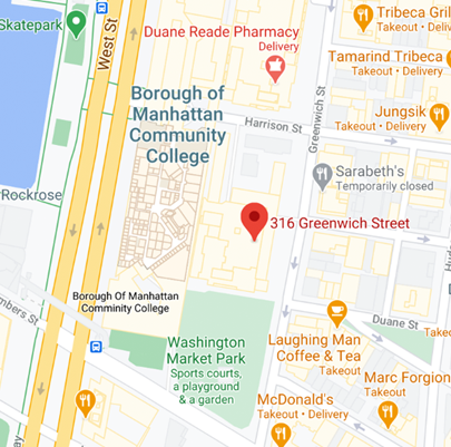 """Map of """"316 Greenwich Street, New York, NY 10013"""""""