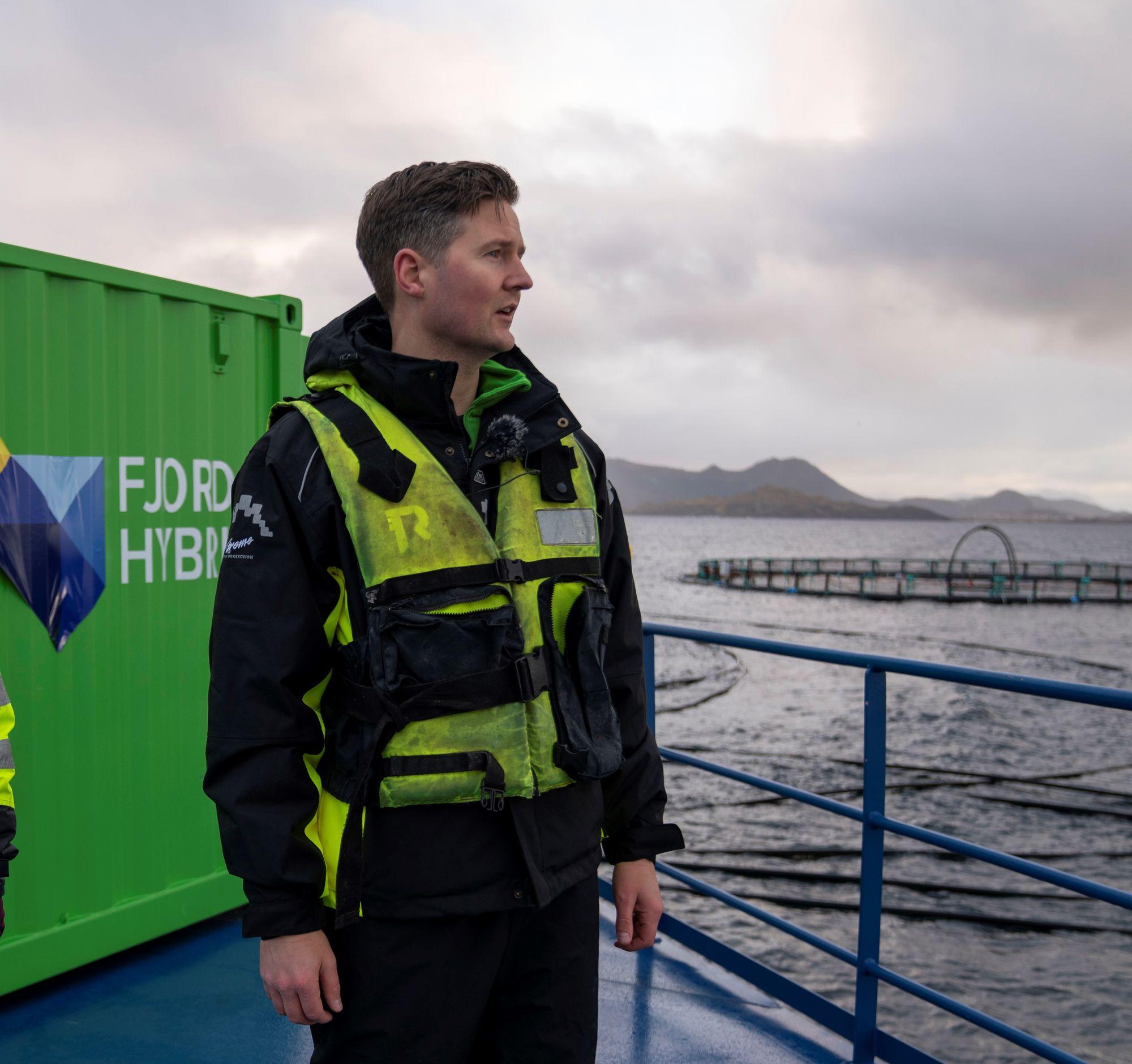 Gründer Øyvind Bakke i oppstartselskapet Fjord Maritim