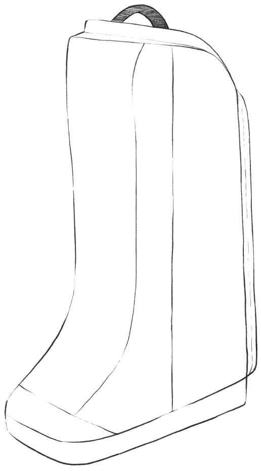 sketch of boot bag