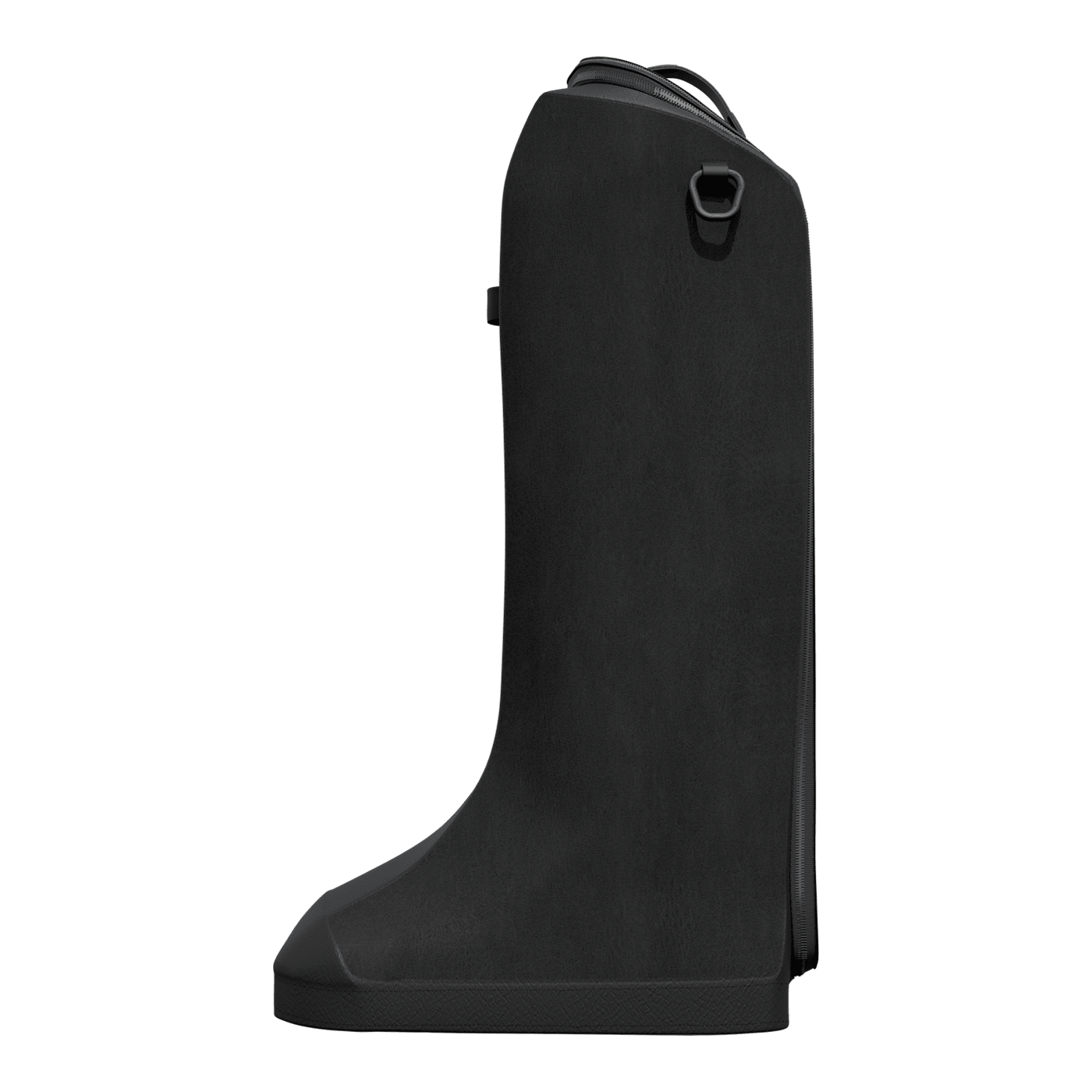 horse riding boot bag in black leather