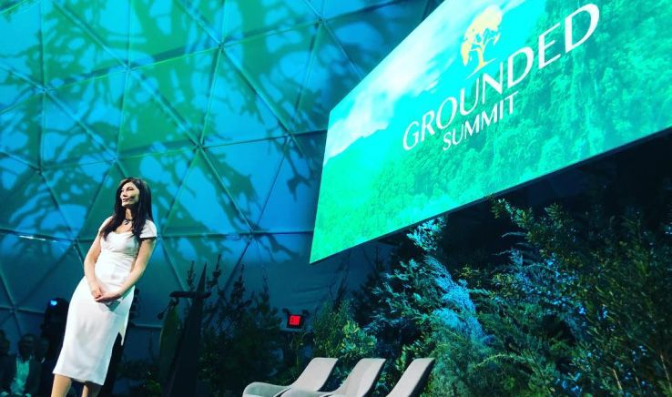 julia jackson giving talk at grounded summit conference