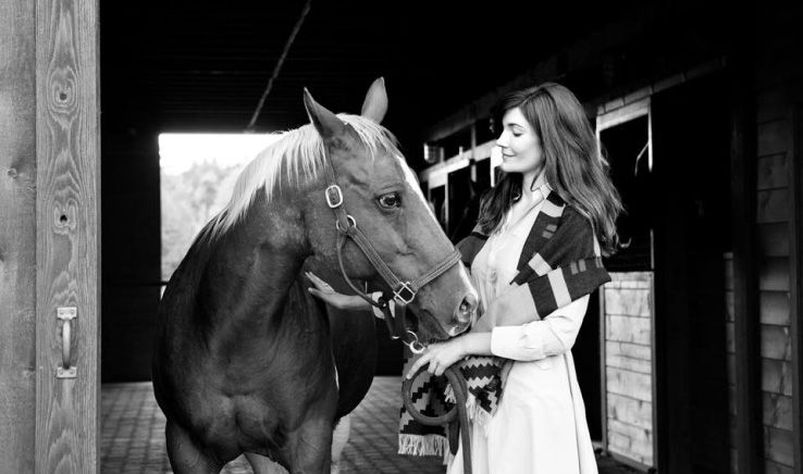 Julia Jackson with her horse