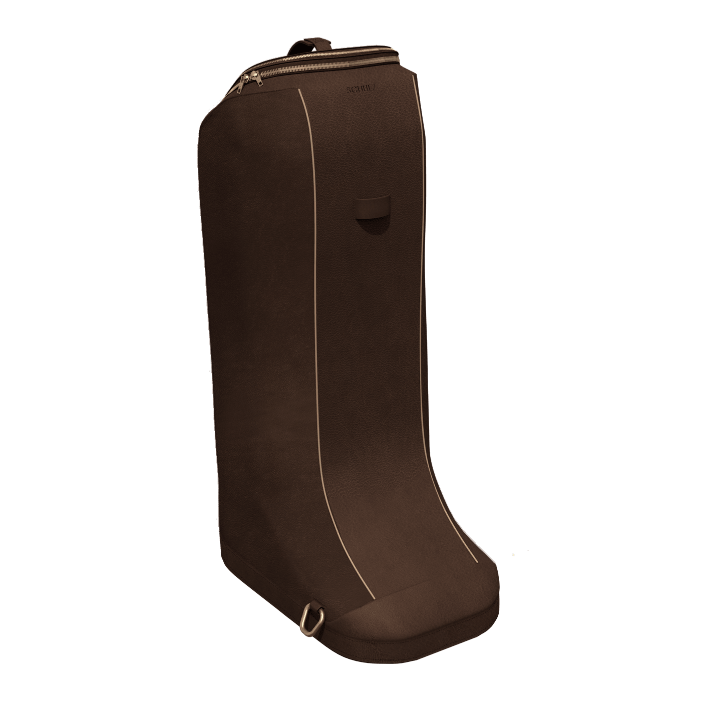 horse riding boot bag in brown leather