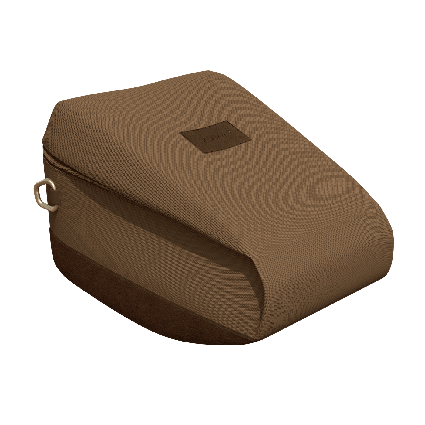 horse riding helmet bag in brown leather