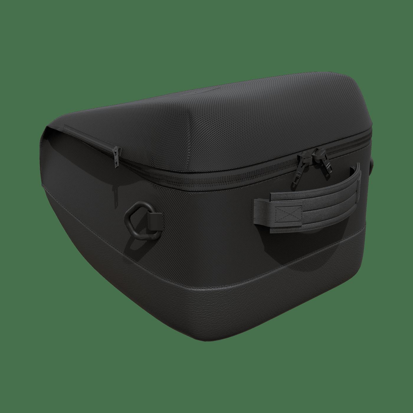 horse riding helmet bag in black leather