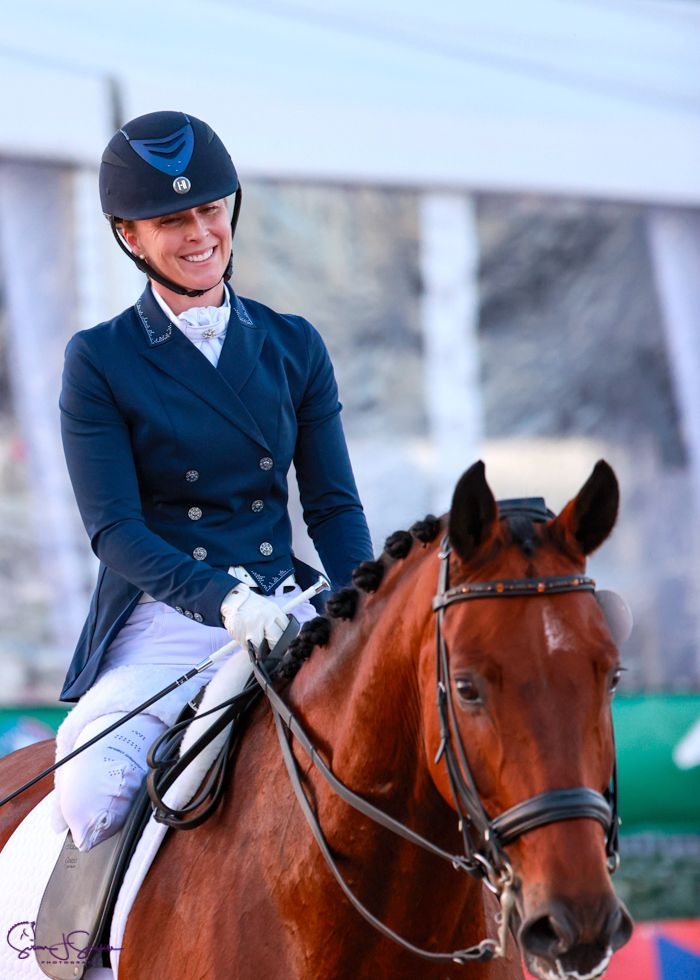 katie jackson paradressage equestrian with her horse