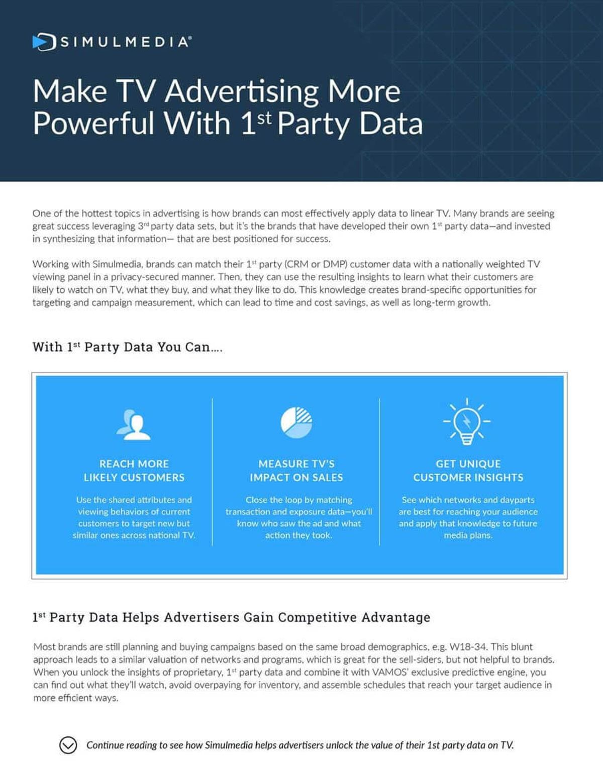 Image of one sheet covering making TV advertising more powerful with 1st party data.