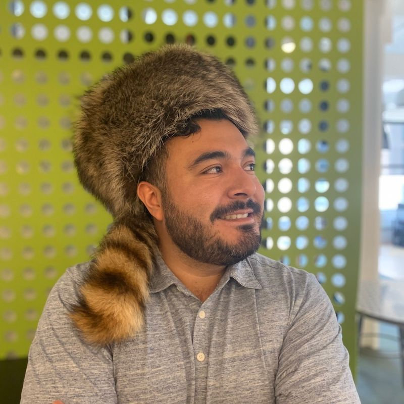 Sam Guerra with Raccoon Hat courage and grit