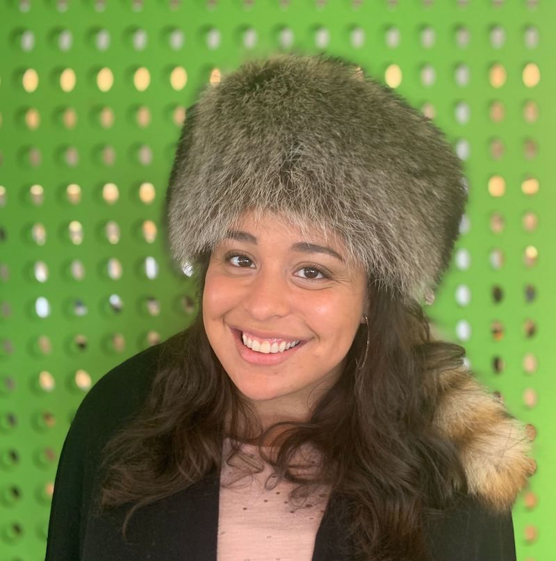 Grace Mashore with Hat of courage and grit