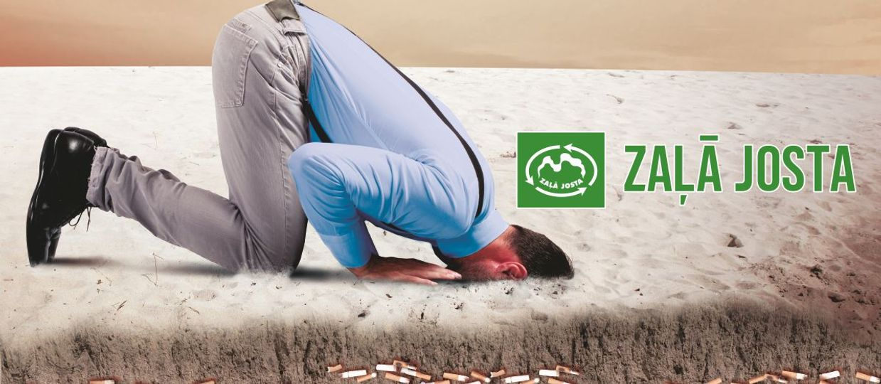 Cover Image for Kampaņā skaidro cigarešu izsmēķu ietekmi uz vidi un uzsver izsmēķu radītā piesārņojuma sekas