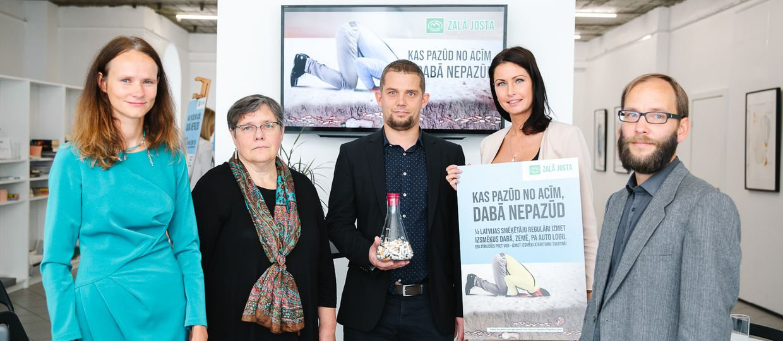 Cover Image for Pasākumā atklāj izsmēķu ietekmi uz vidi un sabiedrības rīcības ieradumus bezatbildīgā izsmēķu izmešanā
