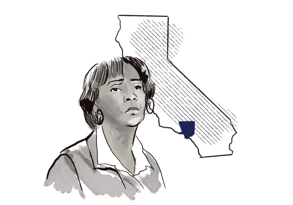 Illustration of Jackiey Lacey, the former district attorney of California