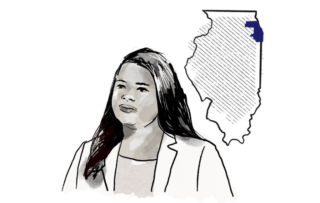 Illustration of Kim Foxx, the district attorney of Cook County