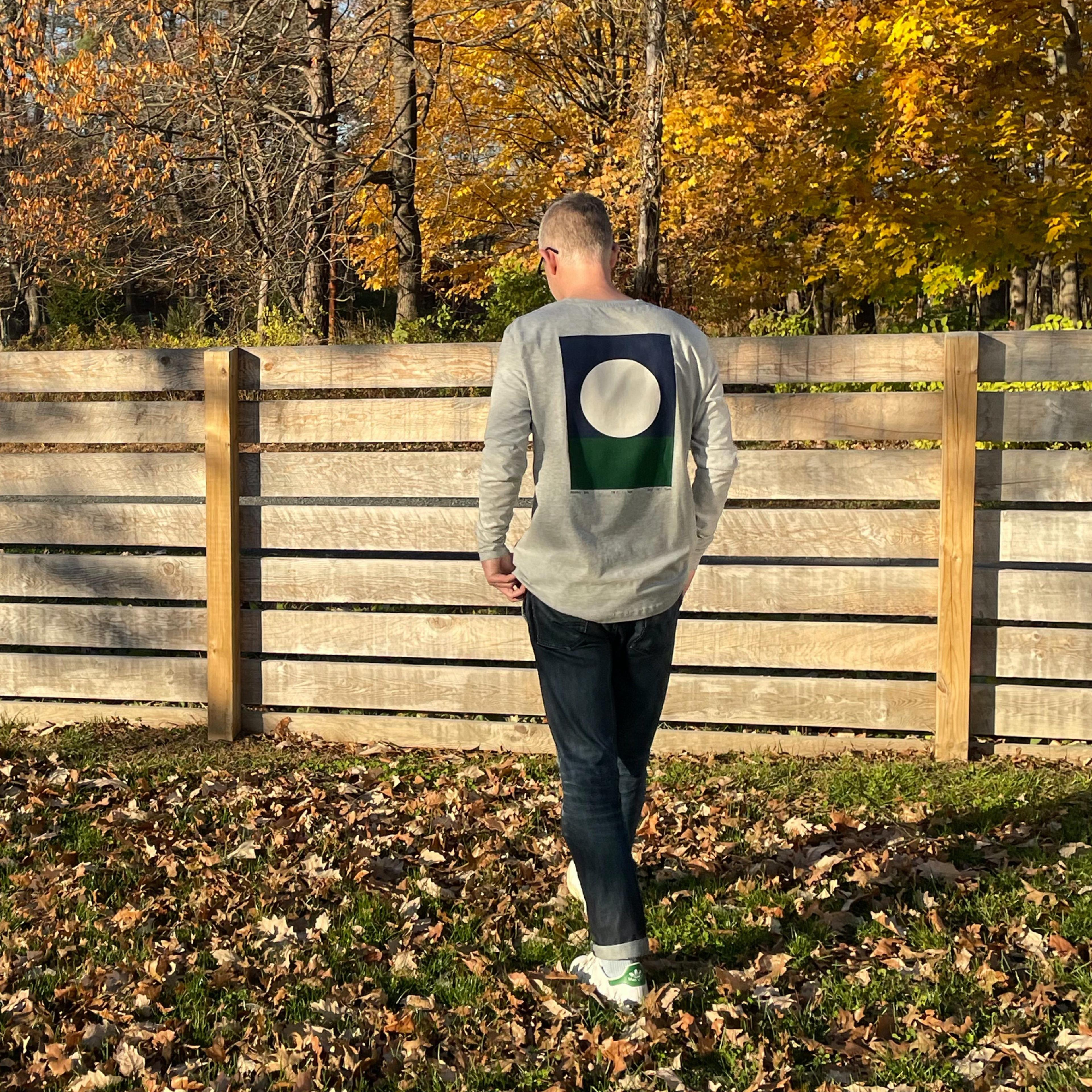 A Longsleeve designed by Ryan Carl, made by Kotn Supply