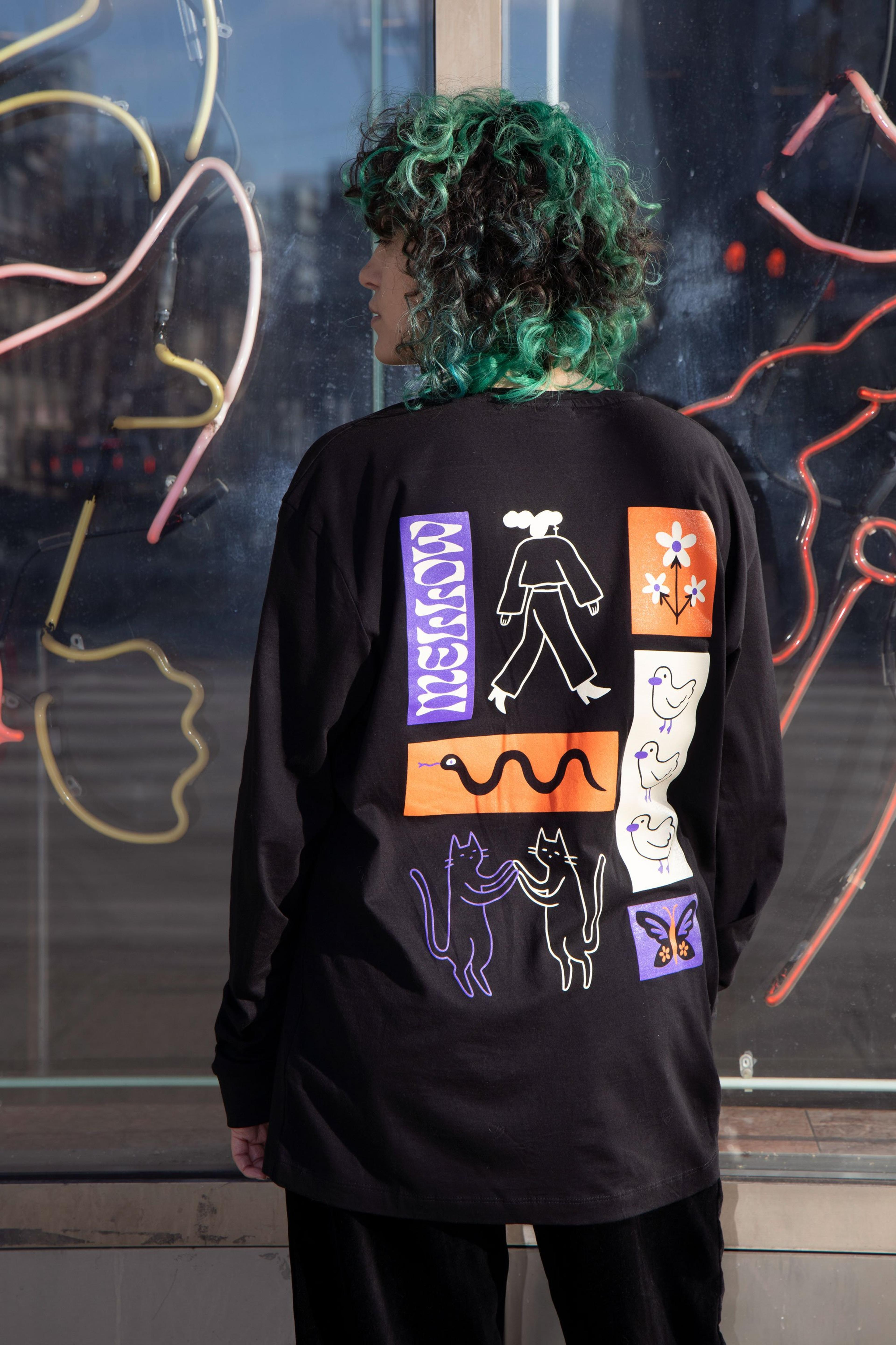 A Longsleeve designed by Mellowpokes, made by Kotn Supply