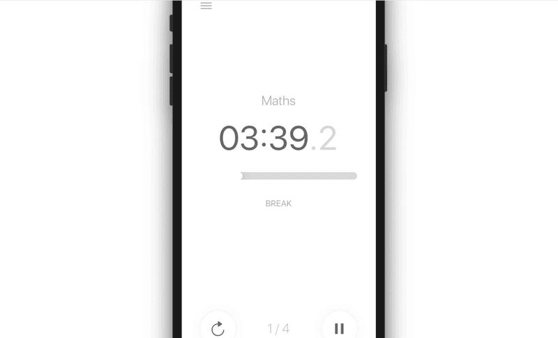 Pomodoro Mobile main page screenshot