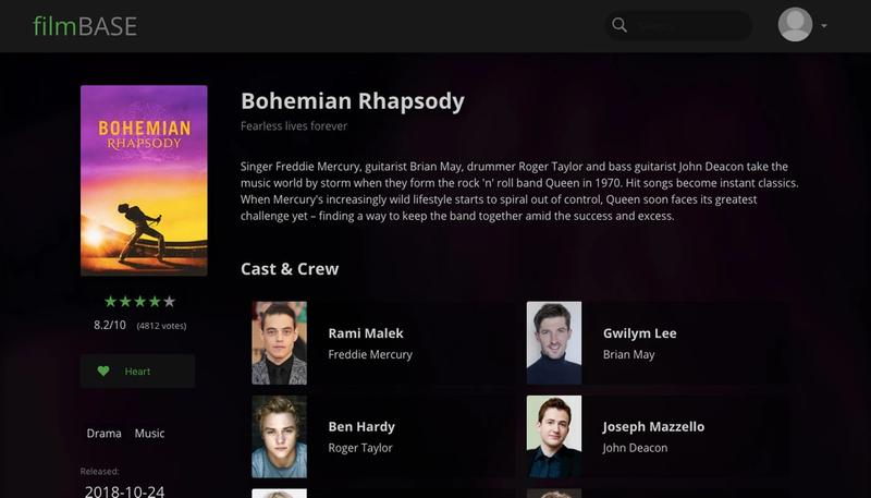 Film Base main page screenshot